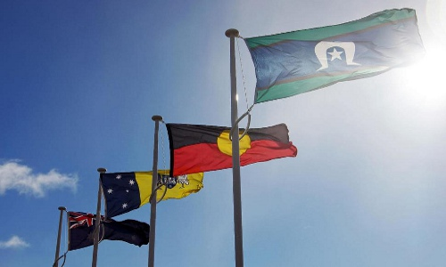 various Australian flags